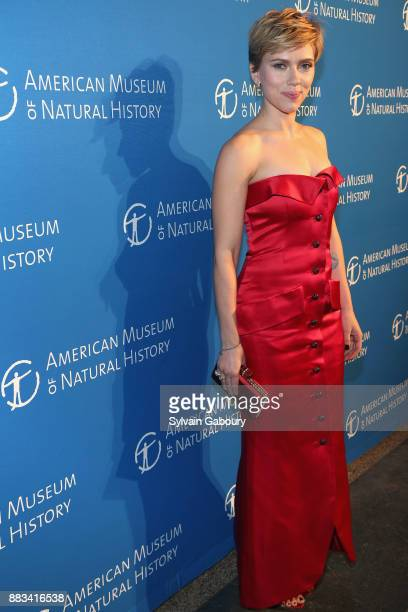 Scarlett Johansson attends The 2017 Museum Gala at American Museum of Natural History on November 30 2017 in New York City