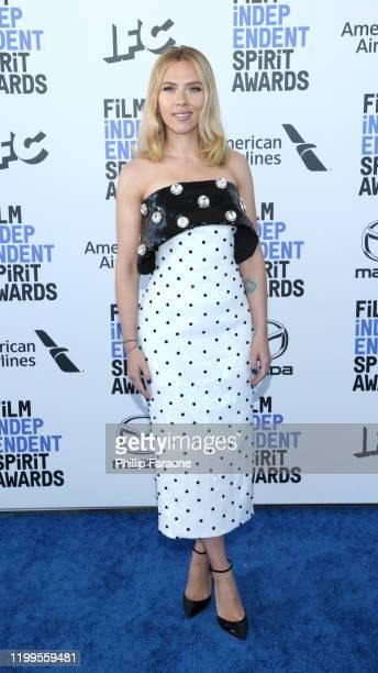 Scarlett Johansson attends the 2020 Film Independent Spirit Awards on February 08, 2020 in Santa Monica, California.