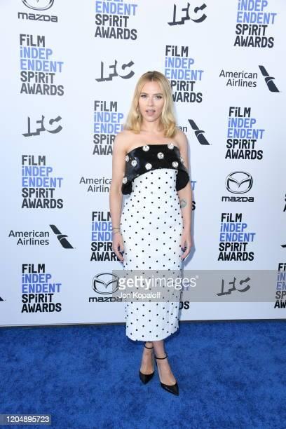Scarlett Johansson attends the 2020 Film Independent Spirit Awards on February 08 2020 in Santa Monica California