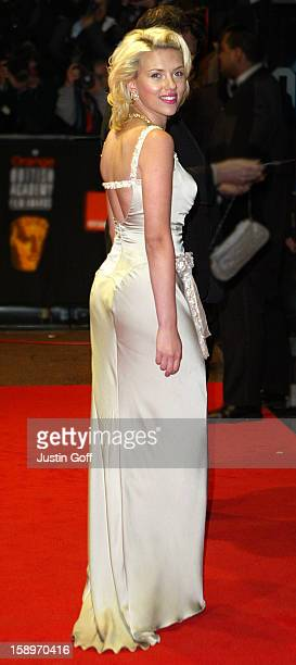 Scarlett Johansson Attends The 56Th Bafta British Academy Film Awards In London'S Leicester Square