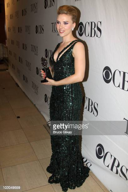 Scarlett Johansson attends the 64th Annual Tony Awards at The Sports Club/LA on June 13, 2010 in New York City.
