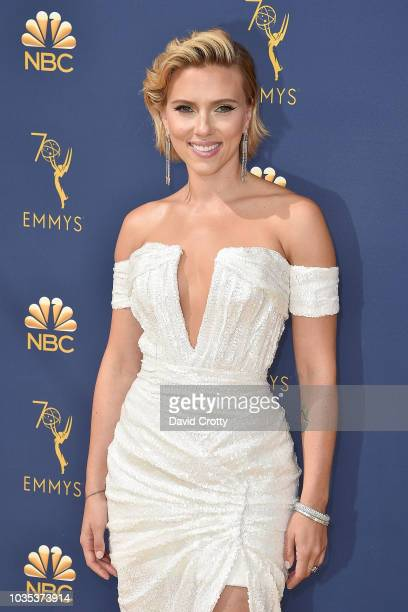 Scarlett Johansson attends the 70th Emmy Awards Arrivals at Microsoft Theater on September 17 2018 in Los Angeles California