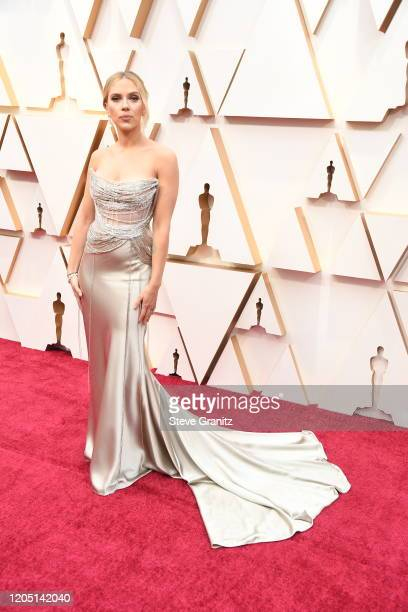 Scarlett Johansson attends the 92nd Annual Academy Awards at Hollywood and Highland on February 09 2020 in Hollywood California