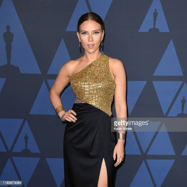 Scarlett Johansson attends the Academy Of Motion Picture Arts And Sciences' 11th Annual Governors Awards at The Ray Dolby Ballroom at Hollywood...