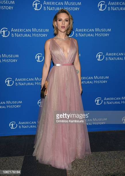 Scarlett Johansson attends The American Museum Of Natural History 2018 Gala at American Museum of Natural History on November 15 2018 in New York City