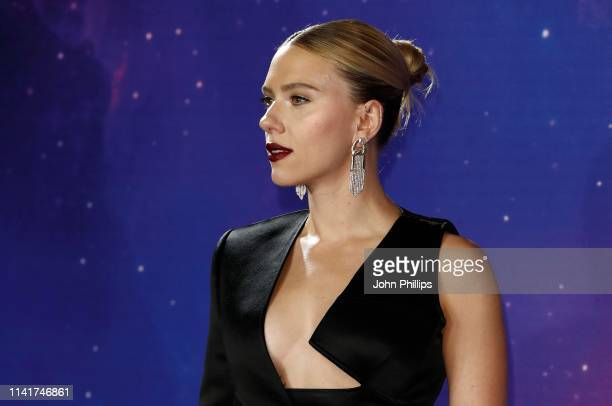 Scarlett Johansson attends the Avengers Endgame UK Fan Event at the Picturehouse Central on April 10 2019 in London England