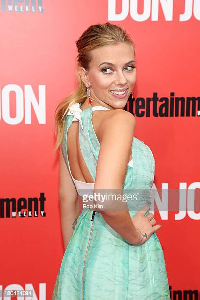 Scarlett Johansson attends the Don Jon New York premiere at SVA Theater on September 12 2013 in New York City