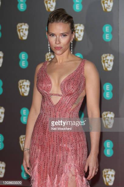 Scarlett Johansson attends the EE British Academy Film Awards 2020 at Royal Albert Hall on February 02, 2020 in London, England.