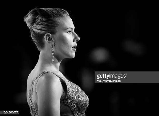Scarlett Johansson attends the EE British Academy Film Awards 2020 at the Royal Albert Hall on February 2 2020 in London England
