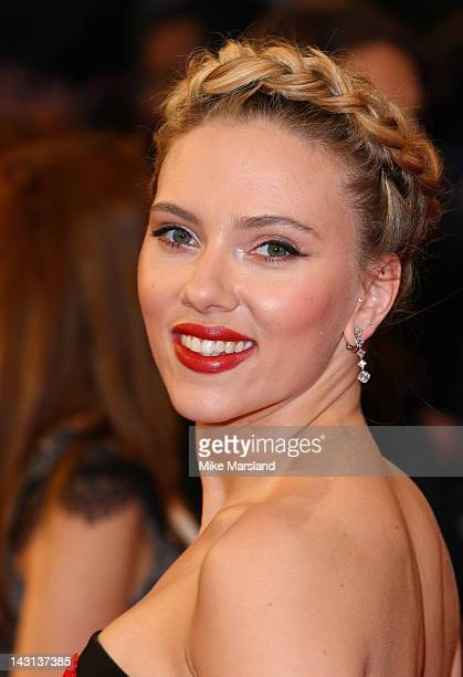 Scarlett Johansson attends the European premiere of Marvel Avengers Assemble at Vue West End on April 19, 2012 in London, England.
