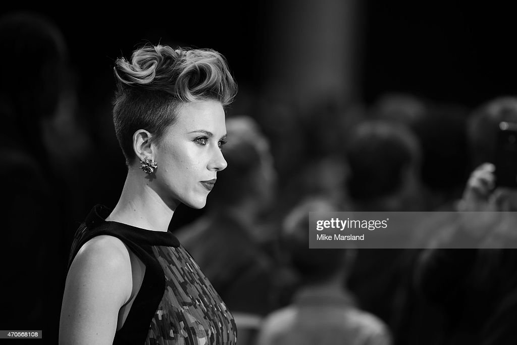 Scarlett Johansson attends the European premiere of 'The Avengers: Age Of Ultron' at Westfield London on April 21, 2015 in London, England.