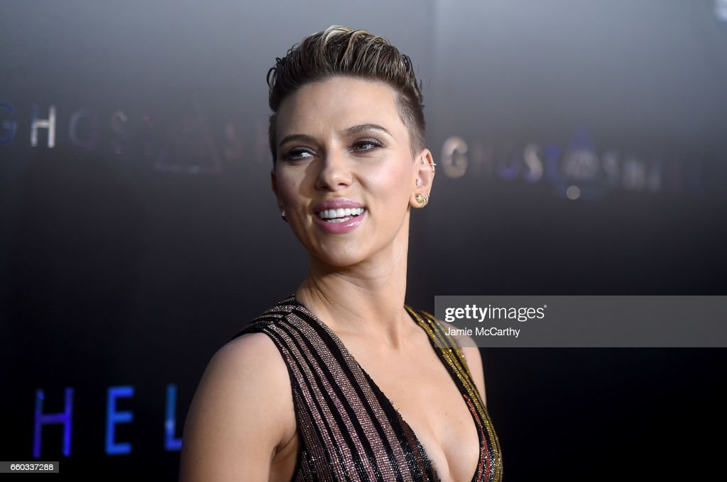 Scarlett Johansson attends the 'Ghost In The Shell' premiere hosted by Paramount Pictures & DreamWorks Pictures at AMC Lincoln Square Theater on March 29, 2017 in New York City.