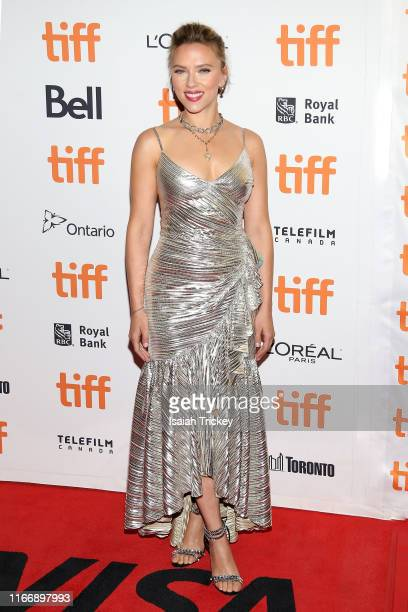 Scarlett Johansson attends the Jojo Rabbit premiere during the 2019 Toronto International Film Festival at Princess of Wales Theatre on September 08...