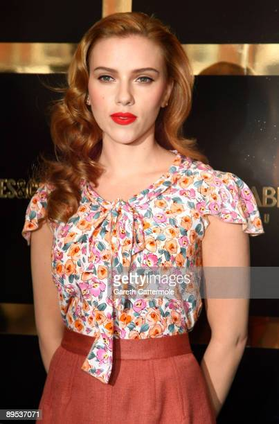 Scarlett Johansson attends the launch of the Dolce Gabbana cosmetics launch at Selfridges on July 31 2009 in London England