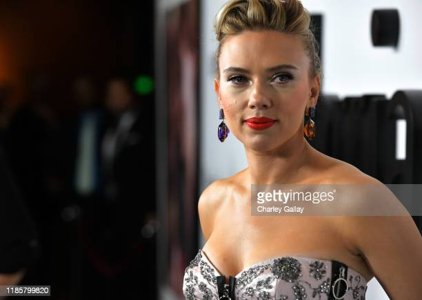Scarlett Johansson attends the 'Marriage Story' Los Angeles Premiere at the Directors Guild on November 05 2019 in Los Angeles California