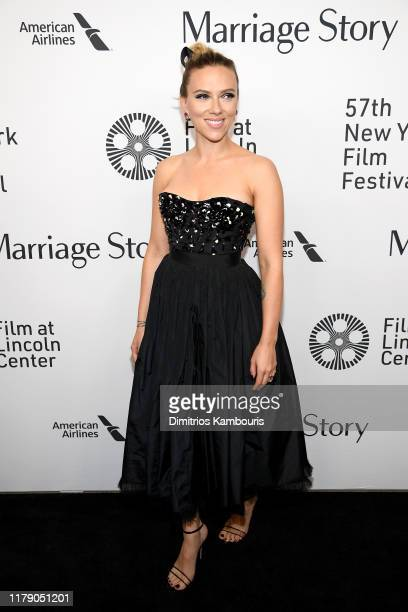 """Scarlett Johansson attends the """"Marriage Story"""" premiere at 57th New York Film Festival on October 04, 2019 in New York City."""