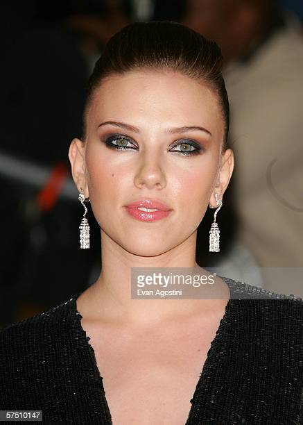 Scarlett Johansson attends the Metropolitan Museum of Art Costume Institute Benefit Gala Anglomania at the Metropolitan Museum of Art May 1 2006 in...