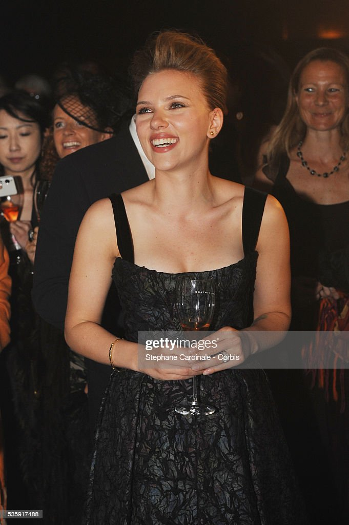 Scarlett Johansson attends the Moet & Chandon Tribute to Heritage Event in Epernay.