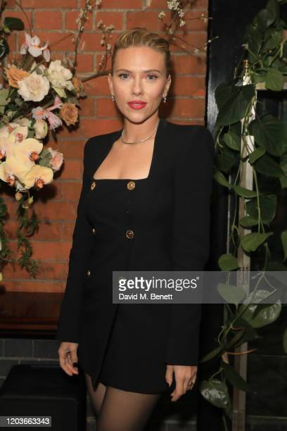 Scarlett Johansson attends the Netflix BAFTA after party at Chiltern Firehouse on February 02 2020 in London England