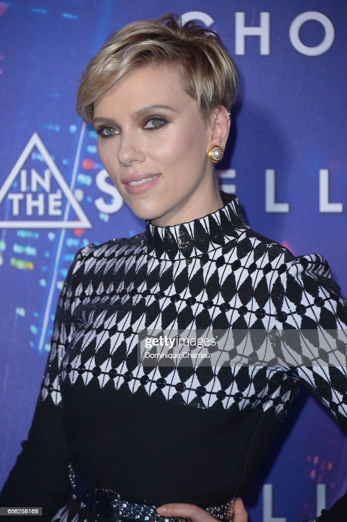 Scarlett Johansson attends the Paris Premiere of the Paramount Pictures release 'Ghost In The Shell' at Le Grand Rex on March 21, 2017 in Paris, France.