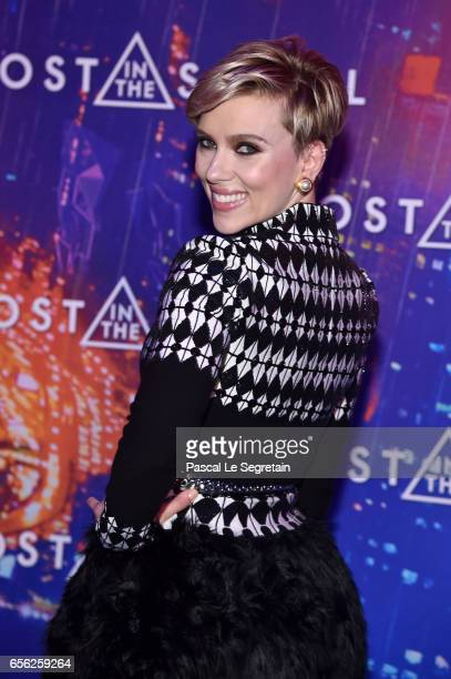 Scarlett Johansson attends the Paris Premiere of the Paramount Pictures release 'Ghost In The Shell' at Le Grand Rex on March 21 2017 in Paris France