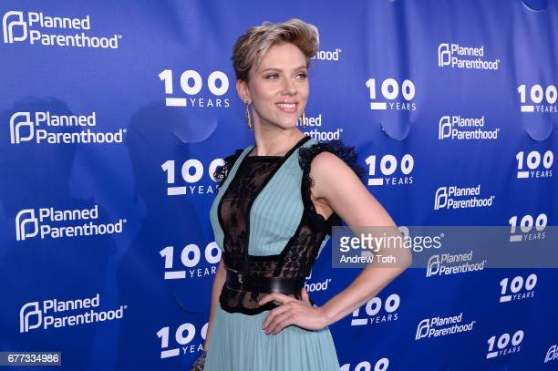 Scarlett Johansson attends the Planned Parenthood 100th Anniversary Gala at Pier 36 on May 2 2017 in New York City