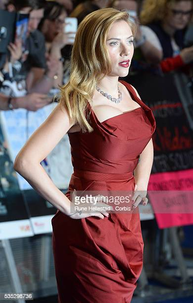 Scarlett Johansson attends the premiere of Captain America The Winter Soldier at Westfield