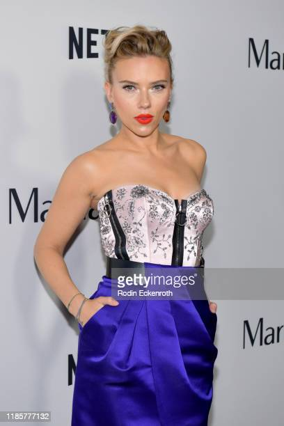 Scarlett Johansson attends the Premiere of Netflix's Marriage Story at DGA Theater on November 05 2019 in Los Angeles California