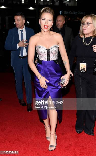Scarlett Johansson attends the Premiere of Netflix's Marriage Storyat DGA Theater on November 5 2019 in Los Angeles California