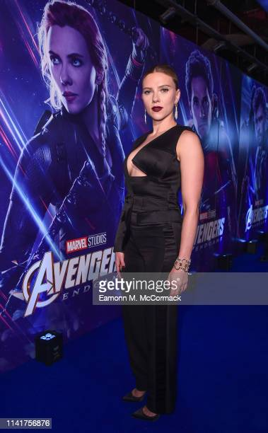 Scarlett Johansson attends the UK Fan Event to celebrate the release of Marvel Studios' 'Avengers Endgame' at Picturehouse Central on April 10 2019...