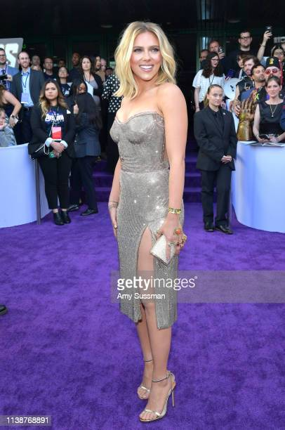 Scarlett Johansson attends the world premiere of Walt Disney Studios Motion Pictures Avengers Endgame at the Los Angeles Convention Center on April...