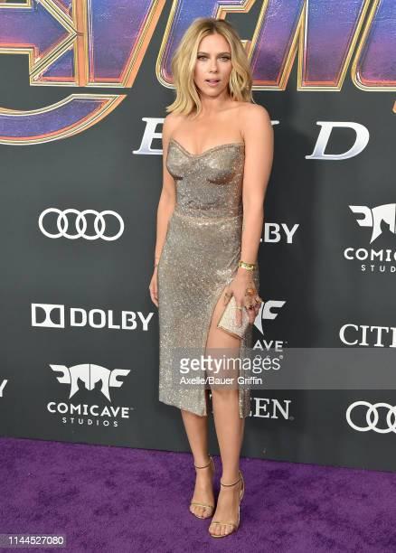 Scarlett Johansson attends the World Premiere of Walt Disney Studios Motion Pictures 'Avengers: Endgame' at Los Angeles Convention Center on April...