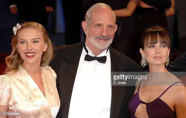Scarlett Johansson director Brian De Palma and Mia Kirshner