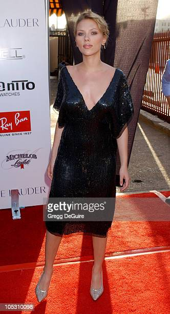 Scarlett Johansson during 2004 Movieline Young Hollywood Awards Arrivals at Avalon Hollywood in Hollywood California United States