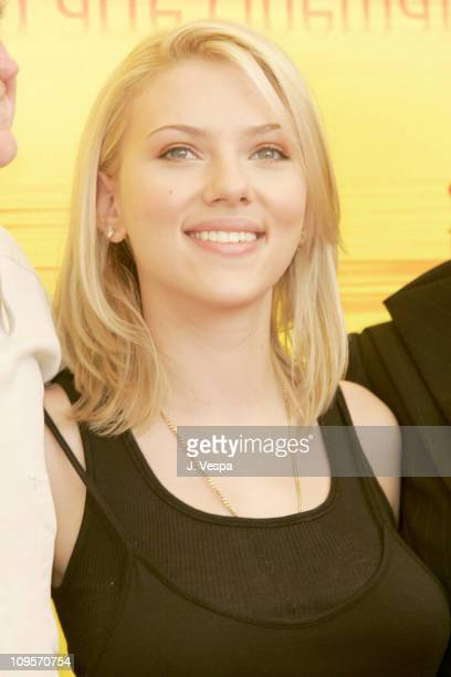 Scarlett Johansson during 2004 Venice Film Festival Jury Photo Call at Casino in Venice Lido Italy