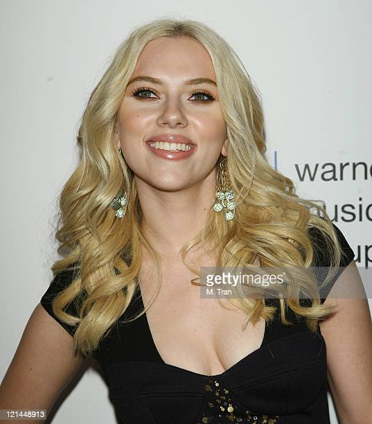 Scarlett Johansson during 49th Annual GRAMMY Awards Warner Music Group After Party at The Cathedral in Los Angeles California United States