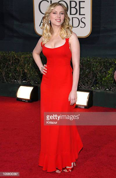 Scarlett Johansson during 63rd Annual Golden Globes Red Carpet at Beverly Hilton in Beverly Hills California United States