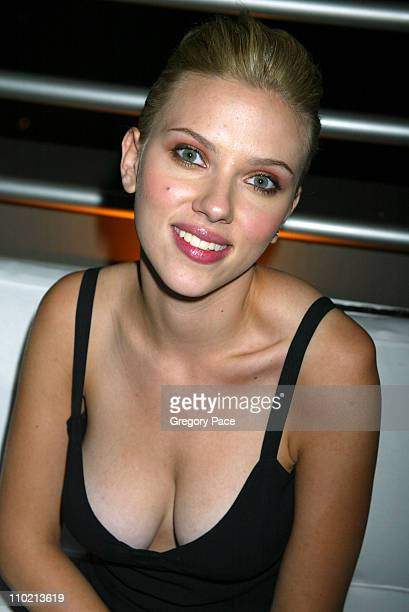 Scarlett Johansson during Calvin Klein Launch Party for 'Eternity Moment' Fragrance Inside Party at Hotel Gansevoort Rooftop in New York City New...