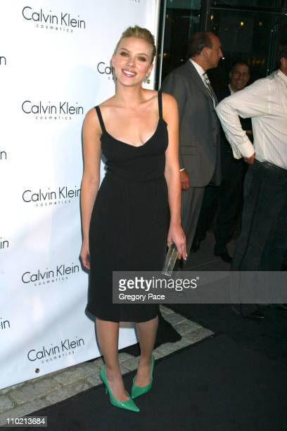 """Scarlett Johansson during Calvin Klein Launch Party for """"Eternity Moment"""" Fragrance - Arrivals at Hotel Gansevoort in New York, NY, United States."""