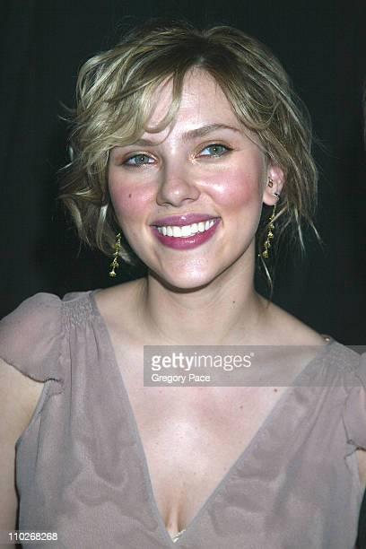 Scarlett Johansson during Cosmopolitan's 40th Birthday Bash Arrivals and Inside at Skylight Studio in New York City New York United States
