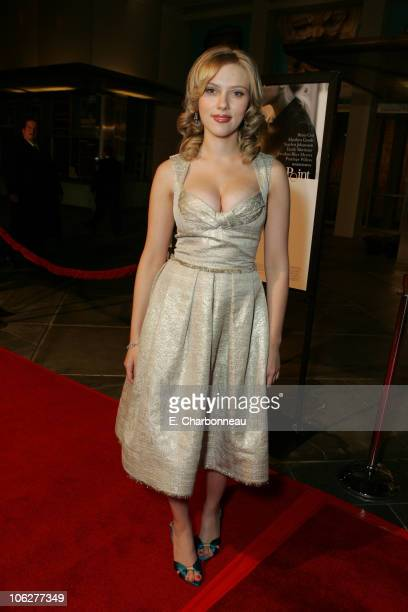 """Scarlett Johansson during Dreamworks' """"Match Point"""" Los Angeles Premiere at LACMA in Los Angeles, California, United States."""