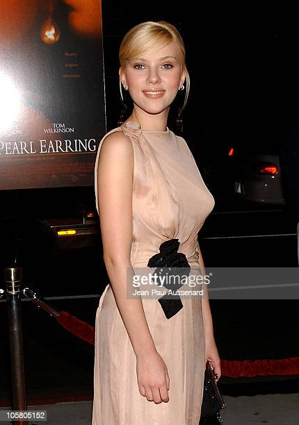 Scarlett Johansson during 'Girl With A Pearl Earring' Los Angeles Premiere Arrivals at Academy of Motion Pictures Arts and Sciences in Beverly Hills...