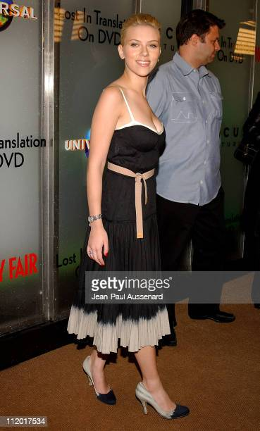 Scarlett Johansson during 'Lost in Translation' DVD Launch Party at Koi Restaurant in Los Angeles California United States