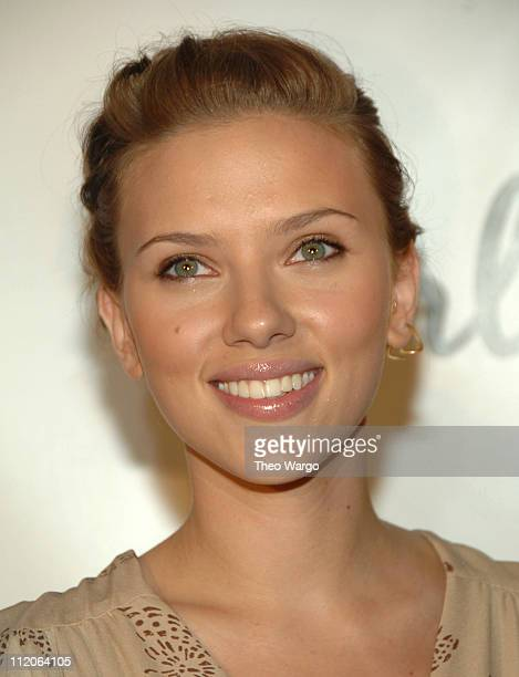 Scarlett Johansson during Scarlett Johansson and Reebok Collaboration Event at XChange in New York City New York United States