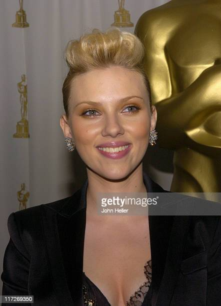 Scarlett Johansson during Scientific And Technical Achievements Honored With Academy Awards at The Ballroom RitzCarlton Huntington Hotel in Pasadena...