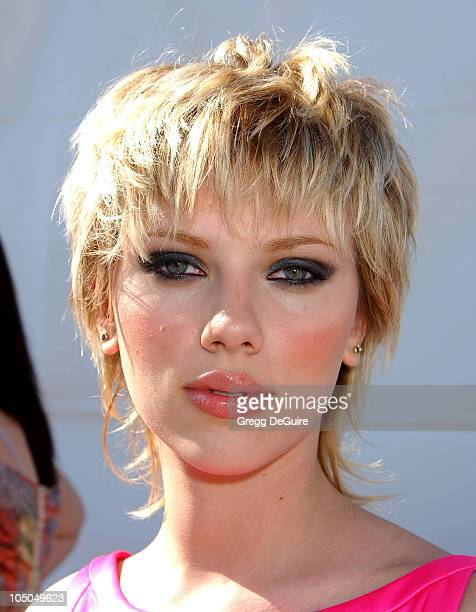 Scarlett Johansson during The 18th Annual IFP Independent Spirit Awards Backstage at Santa Monica Beach in Santa Monica California United States