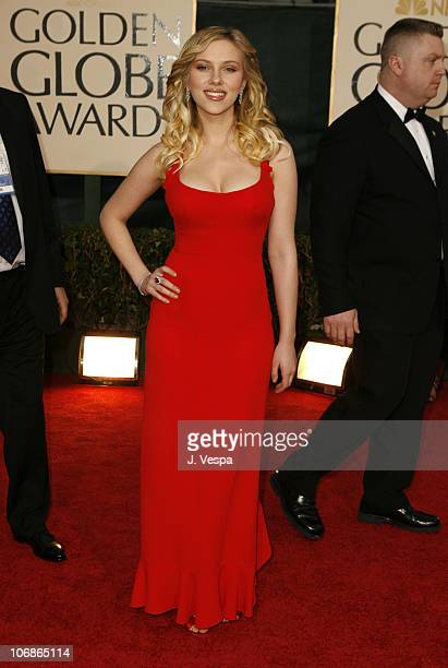 Scarlett Johansson during The 63rd Annual Golden Globe Awards Arrivals at Beverly Hilton Hotel in Beverly Hills California United States
