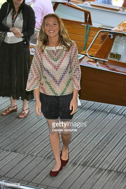 "Scarlett Johansson during The 63rd International Venice Film Festival - ""The Black Dahlia"" Boat Arrivals at Palazzo del Casino in Venice Lido, Italy."