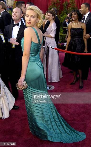 Scarlett Johansson during The 76th Annual Academy Awards - Arrivals by Jeff Kravitz at Kodak Theatre in Hollywood, California, United States.