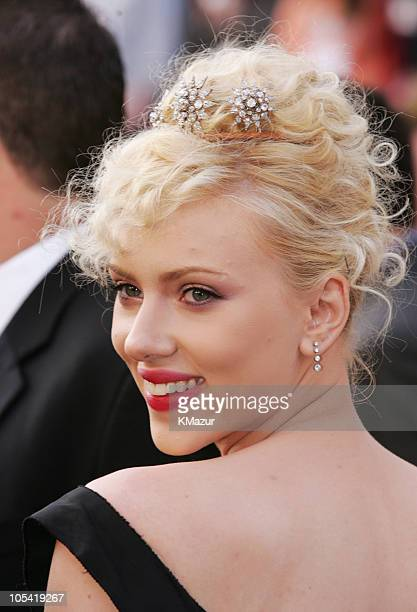Scarlett Johansson during The 77th Annual Academy Awards Red Carpet at Kodak Theatre in Hollywood California United States